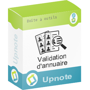 Upnote - Validation d'annuaires